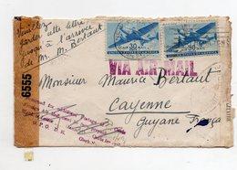 !!! PRIX FIXE : LETTRE DE BROOKLYN DE 1943 POUR CAYENNE ( GUYANE FRANCAISE ) AVEC CENSURES - Briefe U. Dokumente