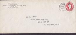 United States Postal Stationery Ganzsache Entier PRIVATE Print THE A.T. & S.F. RAILWAY Co., COAST LINES SACRAMENTO 1911 - Postwaardestukken