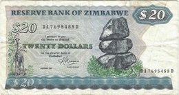 Zimbabue - Zimbabwe 20 Dollars 1983 Pick 4c Ref 1799 - Zimbabwe