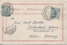 Österreich PK Grüsse Jerusalem Östererische Post 1901 N.Germany Reichenback Arrival Cancellation 2208 - Levant Autrichien