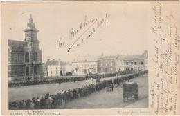 Rare! RANSART Prés Heppignies Et Wangenies. Place Communale  Avec Jeu De Balle Pelote Paume. Postée 1907 - Belgique
