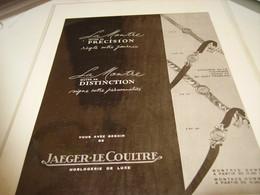 ANCIENNE PUBLICITE MONTRE JAEGER-LECOULTRE 1952 - Autres