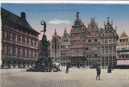 ANTWERPEN / GROTE MARKT EN BRABO / OORLOG 1914-18 / FELDPOST STEMPEL A LDST FUSS ART BAT 1916 - Antwerpen