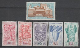 SERIE NEUVE DE TCHECOSLOVAQUIE - EXPOSITION DE BRUXELLES N° Y&T 952 A 956A - 1958 – Bruxelles (Belgique)