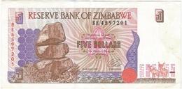Zimbabue - Zimbabwe 5 Dollars 1997 Pick 5a Ref 1798 - Zimbabwe