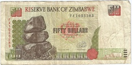 Zimbabue - Zimbabwe 50 Dollars 1994 Pick 8a Ref 1801 - Zimbabwe