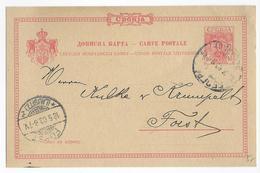 SERBIE - 1903 - CARTE ENTIER POSTAL De BELGRADE => FORST (ALLEMAGNE) - Serbie