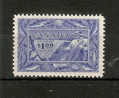 CANADA 1951 $1 SG 433 LIGHTLY MOUNTED MINT Cat £40 - Used Stamps