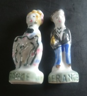 FRANCE - COUPLE HOMME FEMME PAYS D'EUROPE - ANCIENNE SERIE - FEVES BRILLANTES - Länder