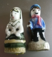 NORMANDIE - COUPLE HOMME FEMME ANCIENNE SERIE DE 1990 - Région