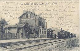 Cpa 60 – Ressons Sur Matz – La Gare ( Train ) - Ressons Sur Matz