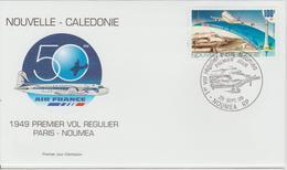 Nouvelle Calédonie FDC 1999 Avions PA 347 - FDC