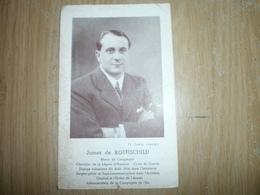 James De ROTHSCHILD    Maire De COMPIEGNE 1939/41 - Visiting Cards