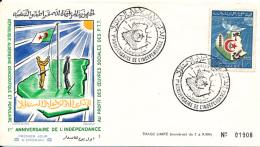 ALGERIE YVERT 379 FDC - Algérie (1962-...)
