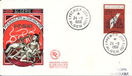 ALGERIE YVERT 430 FDC - Algeria (1962-...)