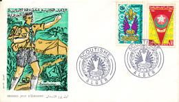ALGERIE SCOUT YVERT 426/27 FDC - Algérie (1962-...)