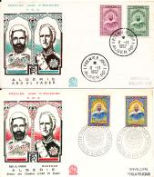 ALGERIE YVERT 431/32 + 455/56 FDC - Algérie (1962-...)