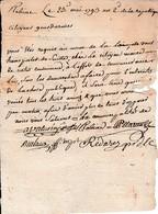 1793 ROBIAC (30) GENDARMERIE - Réquisition Des GENSDARMES Chez Le Maire Pour Des Démarches à Faire - Historical Documents