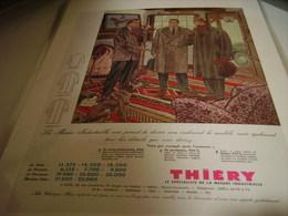 ANCIENNE PUBLICITE VETEMENT THIERY  1952 - Habits & Linge D'époque