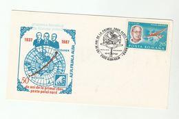 POLAR FLIGHT Anniv COVER 1987  ROMANIA Stamps Aviation Arctic Polar Bear - Polar Flights