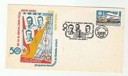 POLAR FLIGHT Anniv COVER 1987  ROMANIA Stamps Aviation Arctic - Polar Flights