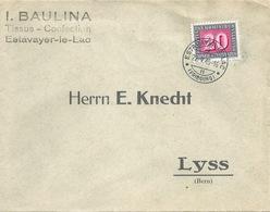 """Motiv Brief  """"Baulina, Tissus Confection, Estavayer Le Lac""""            1945 - Lettres & Documents"""
