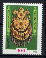 TURKMENISTAN 1992, Yvert 1, Collier Dagdan, 1 Valeur, Neuf / Mint. R146col - Turkménistan