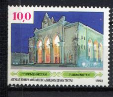 TURKMENISTAN 1992, Yvert 4, Théâtre Dramatique, 1 Valeur, Neuf / Mint. R146thea - Turkménistan
