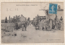 8AK1870 BUCY LE LONG GRANDE RUE 2 SCANS - France
