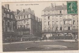 8AK1876 CAEN SQUARE ET PLACE ST PIERRE 2 SCANS - Caen