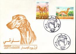 ALGERIE DOGS YVERT 798/99 FDC - Algérie (1962-...)