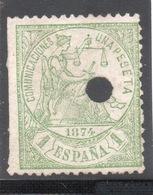 ESPANA SPAGNA COMUNICACIONES  UNA PESETA - 1868-70 Provisional Government