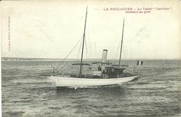 ( LE POULIGUEN   )( 44 LOIRE ATLANTIQUE )( BATEAUX ) LE YACHT CAROLINE RENTRANT AU PORT - Le Pouliguen