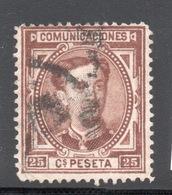 ESPANA SPAGNA 1876  COMUNICACIONES  2 Valori Usati - 1875-1882 Kingdom: Alphonse XII
