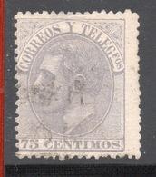 ESPANA SPAGNA  Telegrafos  75 C. - 1875-1882 Kingdom: Alphonse XII