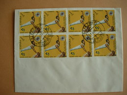 Espagne: 1689 Bloc De 8 Oblitération Alicante 21.8.1971 9me Coupe D'Europe De Gymnastique Hommes - Gymnastik