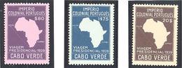 Cap Vert: Yvert N° 244/246* Cote 120.00€ - Cap Vert
