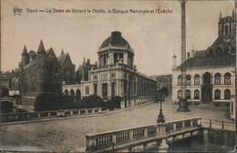Gand Le Steen De Gerard Le Diable La Banque Nationale Et L Eveche - Gent