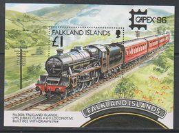 Falkland Islands 1996 Capex '96 / Locomotive M/s ** Mnh (39673) - Falklandeilanden