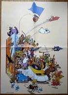 AFFICHE Poster LOMBARD JOHAN DE MOOR SCHTROUMPFS BLAKE ET MORTIMER THORGAL  RIC HOCHET ... Le Soir 2009 - Affiches & Offsets