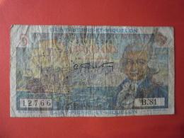 Billet Saint-Pierre-et-Miquelon, 5 Francs,1946, B+, KM:22 - BOUGAINVILLE - France