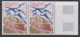 TAAF 1991 Albatros - Argos 1v (pair, Margin) ** Mnh (39675) - Neufs