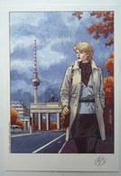 EX LIBRIS - AYMOND - LADY S à Berlin N° Signé NS ENCRE COULEUR - Illustrateurs A - C