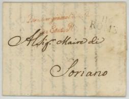 116 ROME + Directeur Général De La Police Des Etats Romains / LàC 1810 Pour Maire De Soriano . - 1792-1815: Conquered Departments
