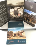 """Série Officielle Malte 2018 En Coffret BU  9 Pièces """" Temples De Mnandra  """" - Malte"""