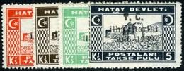 Hatay. Sc #J10-J13. Postage Due. Unused. * - 1934-39 Sandjak Alexandrette & Hatay