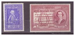 RUANDA -URUNDI - 1956 - BICENTENARIO DELLA NASCITA DI MOZART. SERIE COMPLETA. MH* - Ruanda-Urundi