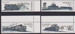NAMIBIA, 2017, MNH, TRAINS, DIAMOND TRAINS, 4v - Treni