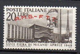 1949 Trieste A - Fiera MI N. 39 INTEGRA MNH** Sassone 20 Euro; - Trieste