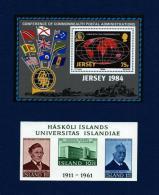Jersey / Islandia (2 Hojas Bloque)  En Nuevo - Sellos